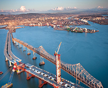 方工手拉hulu在美国緎han餾han海湾大桥中的应用